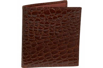 (One Size, Cognac) - Crocodile Bidente Credit Card Hipster