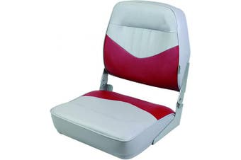 Wise 8WD418-935 Contoured Foam Standard Folding Boat Seat, Cuddy Marble/Cuddy Dark Red