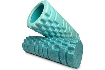 (2 Piece Aqua Removable Core Roller) - Gimme 10 Removable Core Roller Set for Deep Tissue Massager for Muscle and Myofascial Trigger Point Release