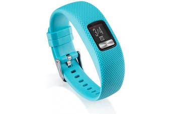 (Large, Cyan) - AWINNER Bands Compatible for Garmin vivofit 4,Replacement Sport Colourful Band for vivofit 4 Activity Tracker -Free Lifetime Replacement Warranty (Cyan, Large)