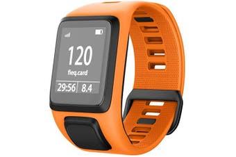 (Orange) - NotoCity Silicone Watch Band Replacement for Spark/Spark 3/Golfer 2/Adventurer/Runner 2/3 Smartwatch for Man Women(Orange)