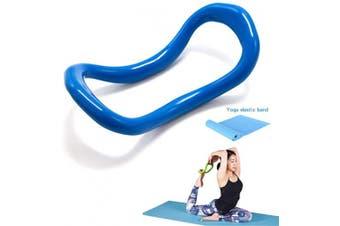 (Blue) - YNXing Yoga Equipment Yoga Ring Pilates Ring Fitness Circle Training Resistance Support Tool Calf Massage Home Training
