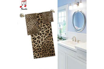 (Floral041) - Naanle Stylish Leopard Print Soft Luxury Decorative Set of 3 Towels, 1 Bath Towel+1 Hand Towel+1 Washcloth, Multipurpose for Bathroom, Hotel, Gym, Spa and Kitchen
