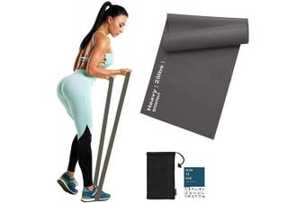 (Grey-25lbs-Heavy Resistance) - Sportout Resistance Band Set, 2m Ultra Long Exercise Bands, 3 Resistance Levels Stretch Bands, with Guidebook and Bag,Ideal for Yoga, Ballet, Pilates, Physiotherapy, Training & Fitness Workouts