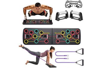 BAISIQI Muscle Board Push Up Drawstring Support Home Fitness Equipment, Multicolor Gym Indoor Push-up Board, Body Building Exercise Tools for Men & Women Home Fitness Training