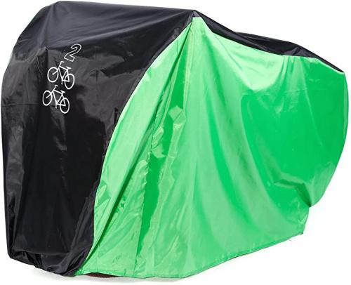Hamimelon Heavy Duty For 2 Bike Cycle Bicycle Rain Snow All Weather Cover Waterproof Storage