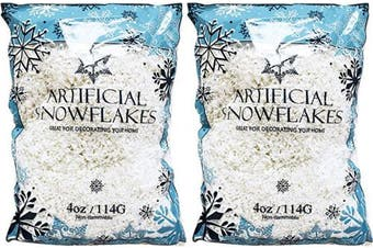 (2) - Black Duck Brand Set of 2 Artificial Snow 120ml Bags! - Festive Faux Snow for Crafts, Christmas, and Decor! - Great for Setting up Winter Displays and Adding to Decorations!