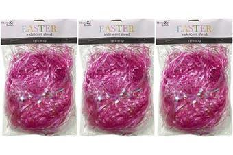 (Pink) - Brite Star Easter Grass Décor, 35ml, Pink, 3 Pieces