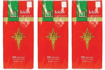 (Gold) - Brite Star Icicles Tinsel, Gold