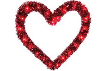 (Red) - Brite Star Lighted Tinsel, Red