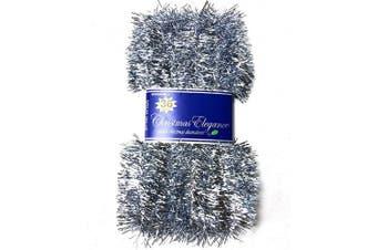 (15.#) - Christmas Elegance 11m Christmas Garland Classic Christmas Decorations, Light Blue