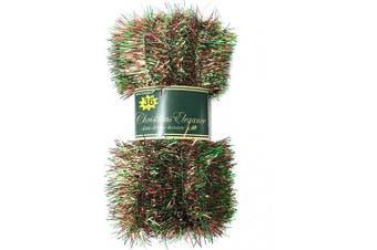 (7.#) - Christmas Elegance 11m Christmas Garland Classic Christmas Decorations, Red/Green