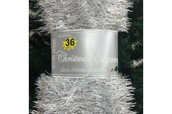 (2.#) - Christmas Elegance 11m Christmas Garland Classic Christmas Decorations, Silver/White