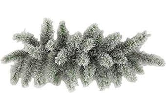 Admired By Nature GXW4914-SNOW 34 Christmas Pine Swag with Frosted Snow Tips