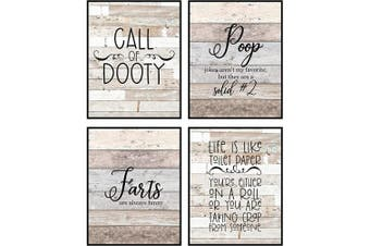 (Call of Dooty) - Silly Goose Gifts Bathroom Themed Decor Art Print Wall Art Funny Gift Sets Typography Rustic Unframed Pictures Signs Rules (Call of Dooty)