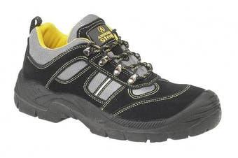 (3 UK, Black) - Amblers Steel FS111 Safety Trainer S1-P