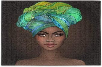 (Medium) - ALAZA African Women Jigsaw Puzzle Leisure Creative Games 500 Pieces for Adults Children Gift