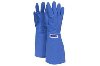 (XL, Elbow Length) - National Safety Apparel G99CRBERXLEL Elbow Cryogenic Safety Water Resistant Glove, 17, X-Large, Medium Blue