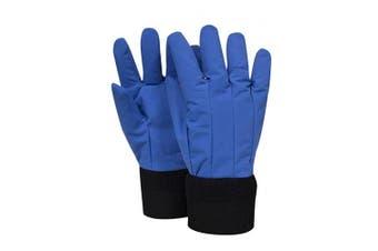 (MD, Wrist Length) - National Safety Apparel G99CRBERMDWR Nylon Taslan and PTFE Wrist Standard Water Resistant Safety Glove, Cryogenic, 30cm Length, Medium, Blue