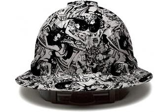 (Lady Luck) - Cool Full Brim Pyramex Hard Hat, Lady Luck Design Safety Helmet 6pt, by AcerPal