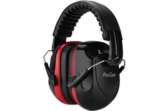 (Red) - ProCase Noise Reduction Ear Muffs, NRR 28dB Shooters Hearing Protection Headphones Headset, Professional Noise Cancelling Ear Defenders for Construction Work Shooting Range Hunting -Red