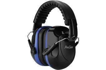 (Blue) - ProCase Noise Reduction Ear Muffs, NRR 28dB Shooters Hearing Protection Headphones Headset, Professional Noise Cancelling Ear Defenders for Construction Work Shooting Range Hunting -Blue