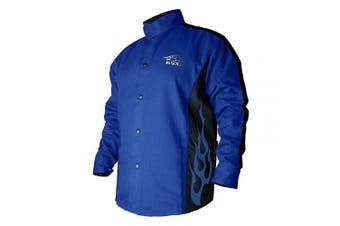 Black Stallion BSX FR Welding Coat - Roy. Blue/Black - XL