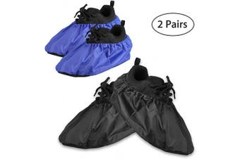 EEEKit Reusable Boot and Shoe Covers- Water Resistant Non Skid and Washable for Contractors, 2 Pairs