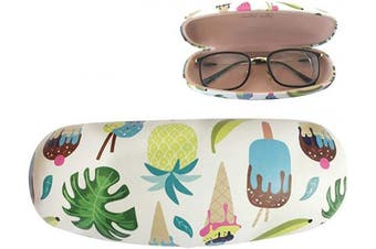 (Color 1) - Eyeglasses Hard Case Portable Case Ice Cream Pineapple Cupcake Cute Clamshell Protective Holder