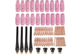 Alffun 68pcs TIG Torch Consumables Accessories KIT for TIG Welding Torch PTA DB SR WP 17 18 26 Back Cap/Collet Body/Alumina Nozzle