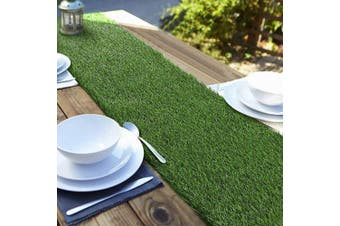 (36cm  x 180cm , Green) - Aneco Artificial Grass Table Runners Carpet Roll Synthetic Grass Table Runner 36cm x 180cm Grass Tabletop Decoration for Spring Fall Summer Holiday, Baby Shower, Wedding, Birthday, Banquet