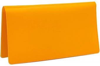 (Orange) - Sunburst Orange Vinyl Chequebook Cover, Top Tear Personal Vinyl Chequebook Cover