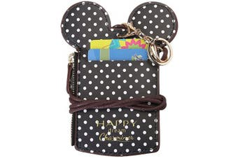 (black) - Neck Pouch,CHARMINER Card Holder Wave Dot Travel Bag With Coin Wallet Purse