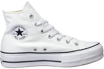 (8.5 UK, White White Black White 102) - Converse Unisex Adults' Chuck Taylor Ctas Lift Hi Low-Top Sneakers
