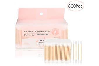(800 Pcs,4X Small Bags) - 800 Pcs Cotton Buds Cotton Swabs