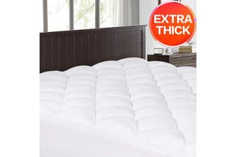(Twin XL, Thick Mattress Topper) - Abakan Twin XL Mattress Topper Extra Thick Mattress Pad Cover Super Soft Breathable Down Alternative Fill Pillow Top Bed Topper with 8-50cm Deep Pocket