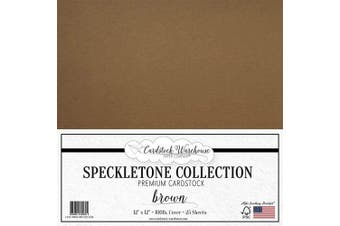 (Brown) - Brown Speckletone Recycled Cardstock Paper - 30cm x 30cm - Premium 45kg. Cover - 25 Sheets