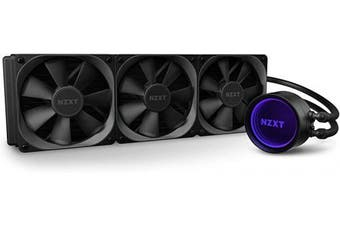 (X73 360mm, Kraken X Gen 3) - NZXT Kraken X73 360mm - RL-KRX73-01 - AIO RGB CPU Liquid Cooler - Rotating Infinity Mirror Design - Improved Pump - Powered By CAM V4 - RGB Connector - Aer P 120mm Radiator Fans (3 Included)
