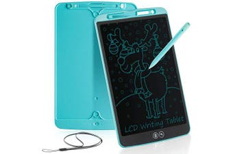 (12 inch, Blue) - bhdlovely LCD 30cm Writing Tablet for Kids Learning Writing Board Partial Erasure Drawing Pad Smart Doodle Drawing Board for Home School Office Portable Electronic Digital Hand Writing Pad(Blue)