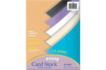 (Assorted Classic) - Pacon Card Stock, Classic Assortment, 5 Colours, 20cm - 1.3cm x 28cm , 100 Sheets