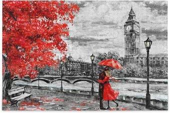 (Medium) - ALAZA London Big Ben Tree England Bridge Jigsaw Puzzle Leisure Creative Games 500 Pieces for Adults Children Gift