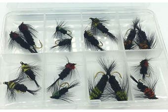 BestCity Fly Fishing Montana Selection, pack of 16 flies in sizes 8-12 Trout flies