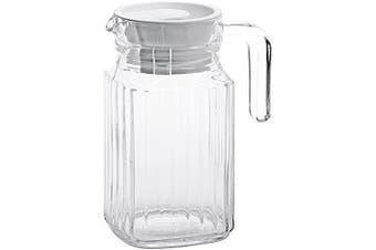 Arcoroc Quadro Fridge Jug with white plastic lid 500ml, without filling mark, 1 Jar