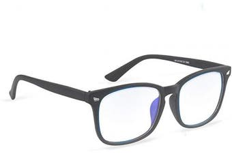 (Black Frame) - COOLOO Blue Light Blocking Glasses for Anti Headache and Eyes Strain Super Light Weight Computer Gaming Glasses Fashion Accessories,Unisex for Women and Men
