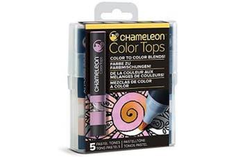 (Pastel Tones) - Chameleon Art Products, Pastel Tones, Colour Tops, Quick and Easy Blending - Set of 5