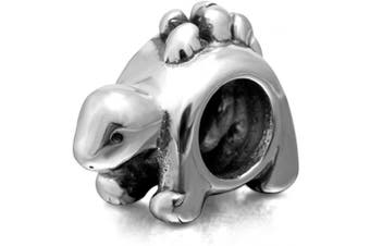 (Dinosaur Charm) - Animal Charm Beads 925 Sterling Silver Charm for Bracelets Christmas Gifts for Family Birthday (Dinosaur Charm)