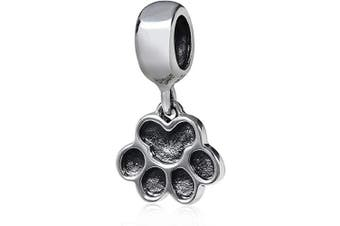 (Dog Claw Charm Pendant) - Animal Charm Beads 925 Sterling Silver Charm for Bracelets Christmas Gifts for Family Birthday (Dog Claw Charm Pendant)