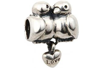 (A) - Animal Charm Beads 925 Sterling Silver Charm for Bracelets Christmas Gifts for Family Birthday (A)