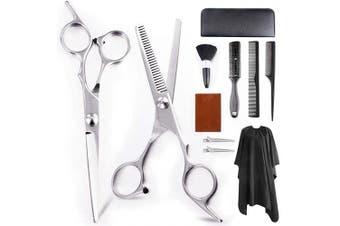 Professional Hair Cutting Scissors Set 11Pcs Haircut Scissors Thinning Shears Multi-Use Haircut Kit Hairdressing Scissors Hair Cutting Shears for Barber Salon Home Hair Shears for Women Men