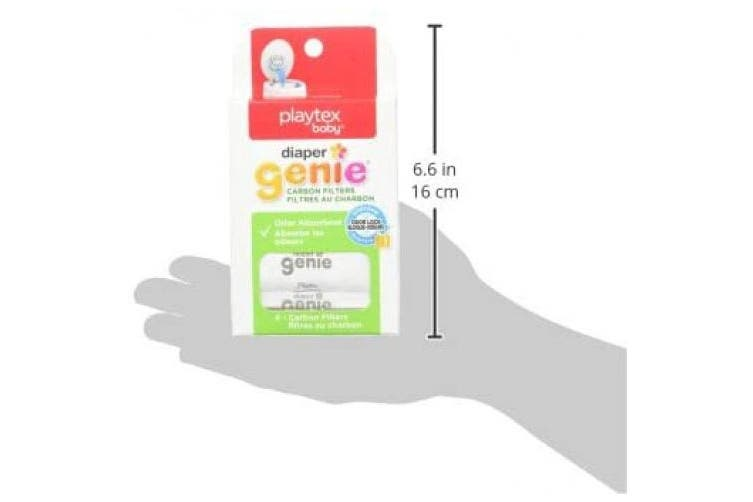 (Original version) - Playtex Nappy Genie Carbon Filter, Ideal for Use with Nappy Genie Complete, Odour Eliminator, 4 Pack